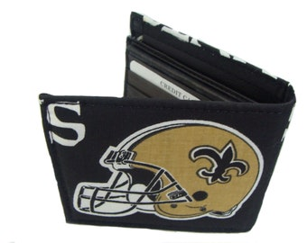 NFL  National Football Leadgue Football New Orlean SAINTS Man Wallet Cotton Fabric US Hand Made Wallet