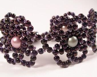 Mystic Moonflower Bracelet, Beading Tutorial in PDF