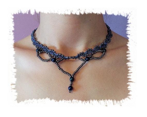 Tiara Necklace Pattern, Beading Tutorial in PDF
