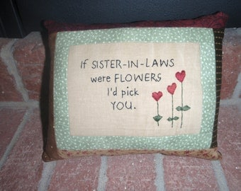 Sister-in-law Flower pillow
