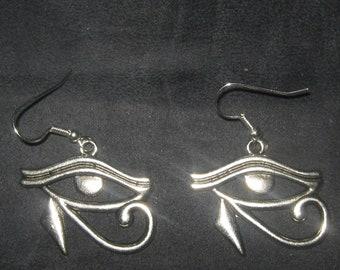 30MM Egyptian Egypt Eye Of Horus RA Earrings