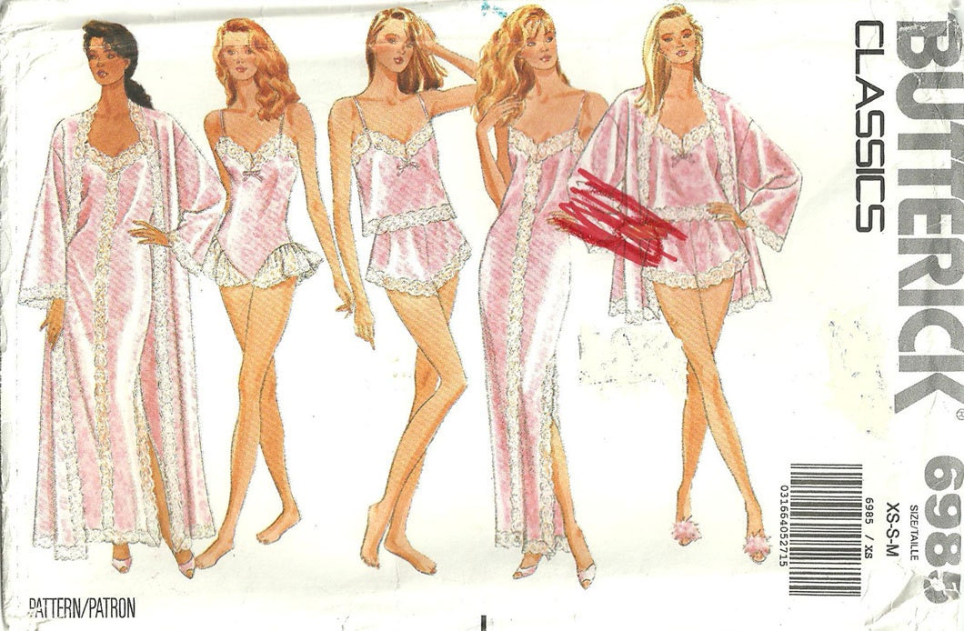 Butterick 6985 Vintage Lingerie Sewing Pattern