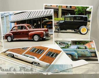 Classic Cars, Note Card Set of (4)