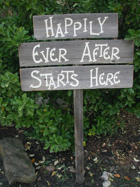 Triple Wood Board Wedding Sign Bridal Happily Ever After