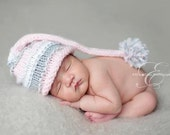 Baby Hat, Baby Elf Hat, Newborn Elf Hat, Newborn Size - Baby Photography Prop - Pick your colors