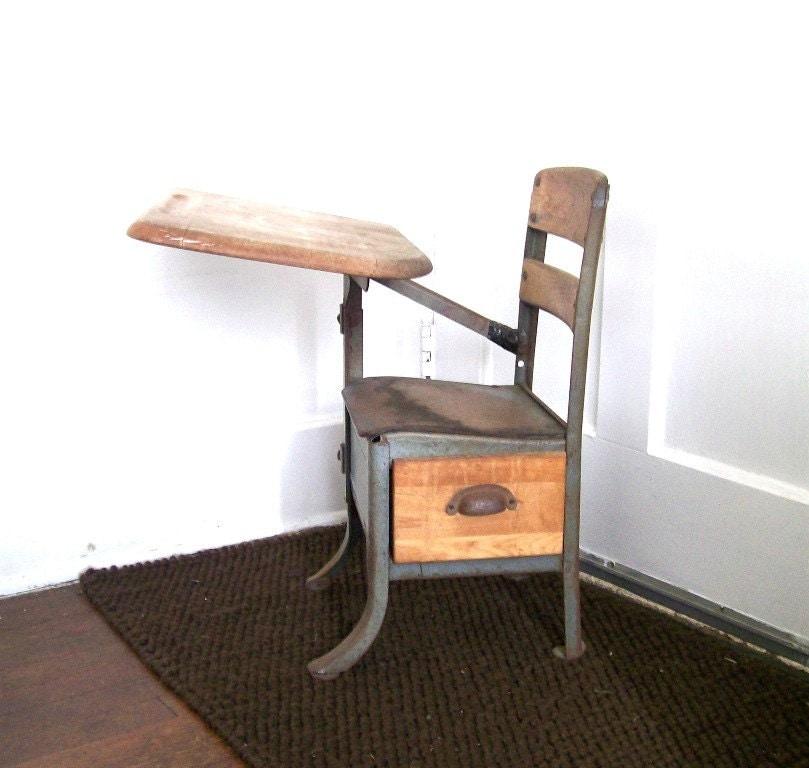 Vintage Antique School Desk 809 x 768