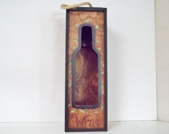 Hand Painted  Wine Box     Grapes      Purple Red Brown