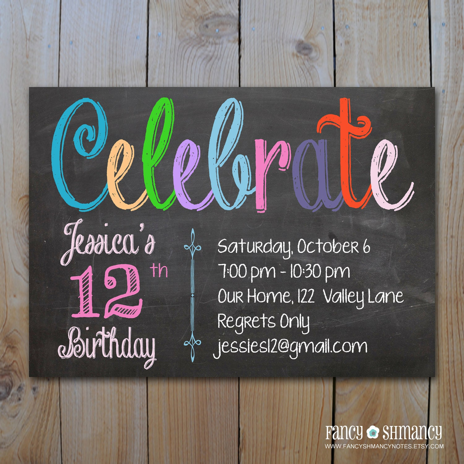 Chalkboard Birthday Invitations could be nice ideas for your invitation template