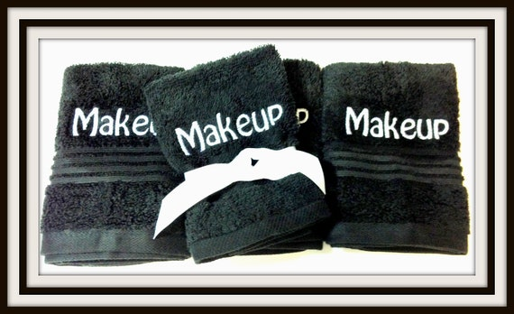 Make Your Own Car >> Black Makeup Remover Washcloths by MarcySewSpecial on Etsy