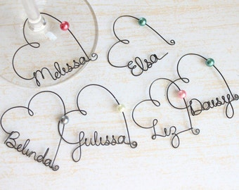Personalized Wedding Favors, Wine Charms, Personalized Wine Charms, Personalized Wine Glass Charms, Rustic Wedding Favors