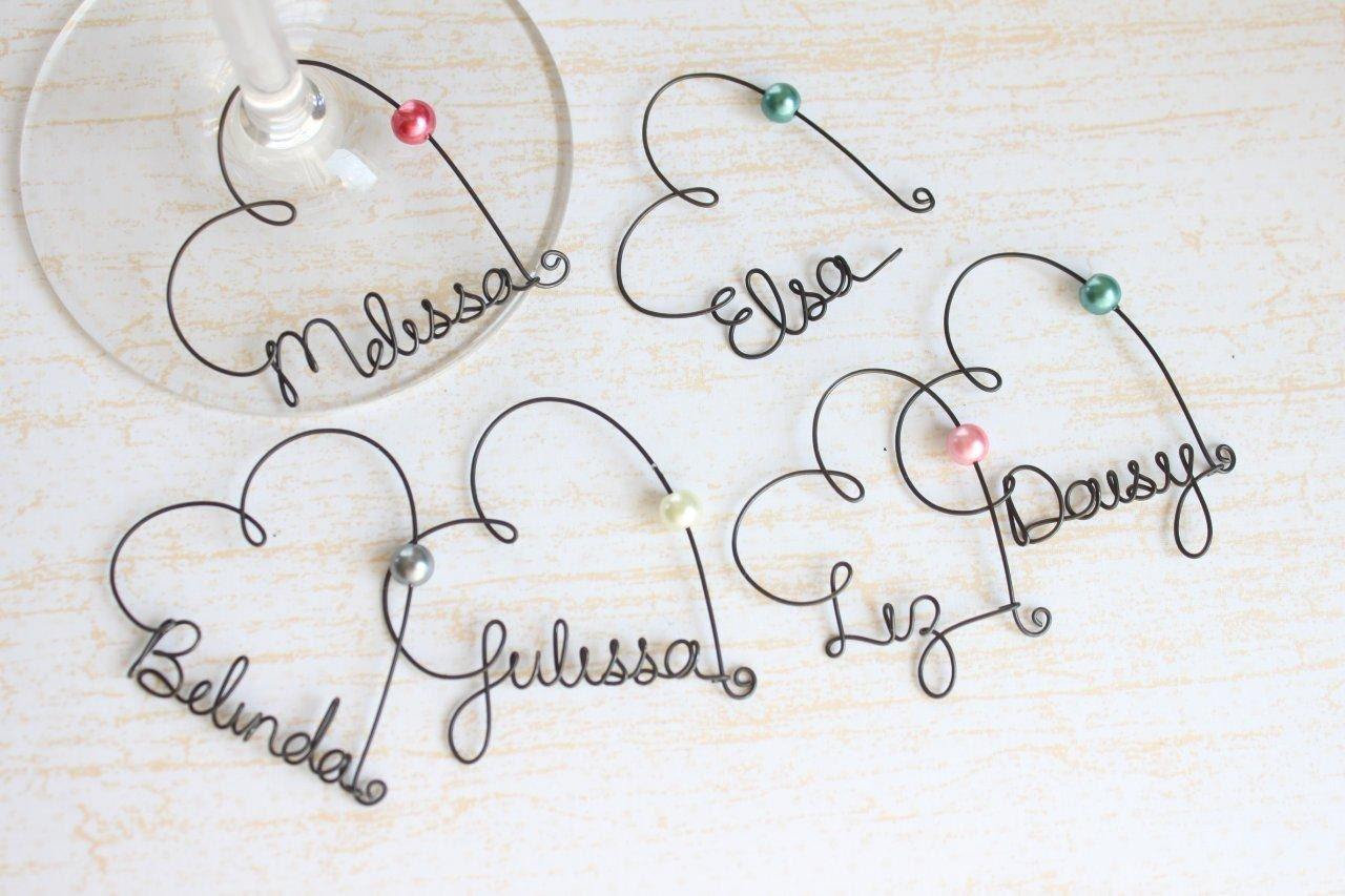 personalized wine glass charms wedding favor wine by