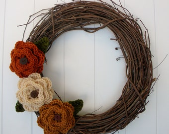Flower and Leaf Crochet Pattern- add to hats and accessories. Permission to sell finished items.Immediate PDF file download.