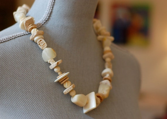 Totem Necklace OOAK Architectural Primitive Tribal Shell Bone Horn ORIGINAL Handcrafted Signed phippsy