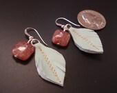 Red Jasper feather earrings