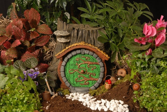 Green Hobbit/Fairy Door