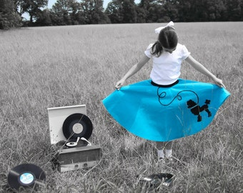 Beautiful Girls Custom Made LuLu poodle skirt Your choice of Size and Color S,M,L,XL Prices from 36.00 and Up!