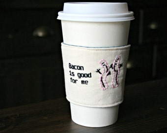 Bacon lover's cup cozy