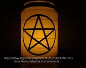 Pentacle Pentagram Halloween Lantern Candle Holder