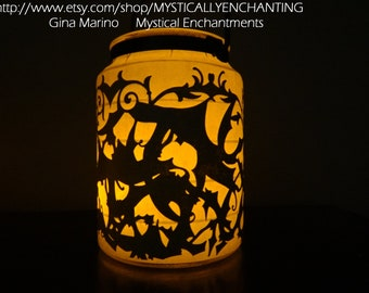 Halloween Lantern Bat Lace 360 degrees