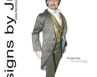 """PDF Classic Tuxedo Pattern for 19"""" Mortimer Mort Dolls Tonner"""