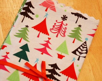 Cloth Napkins - Christmas Trees