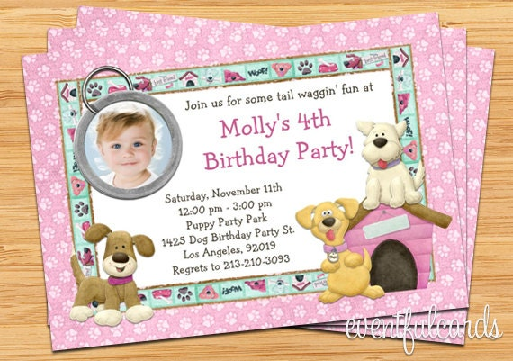 puppy dog birthday party invitation  printable by eventfulcards, Party invitations