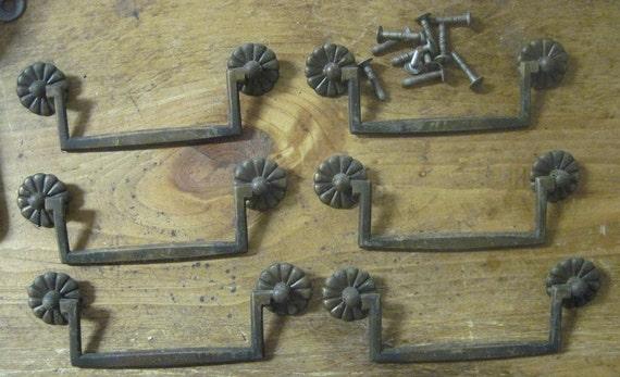 Set Of 6 Original 4 1 2 Inch Center Drawer Pulls