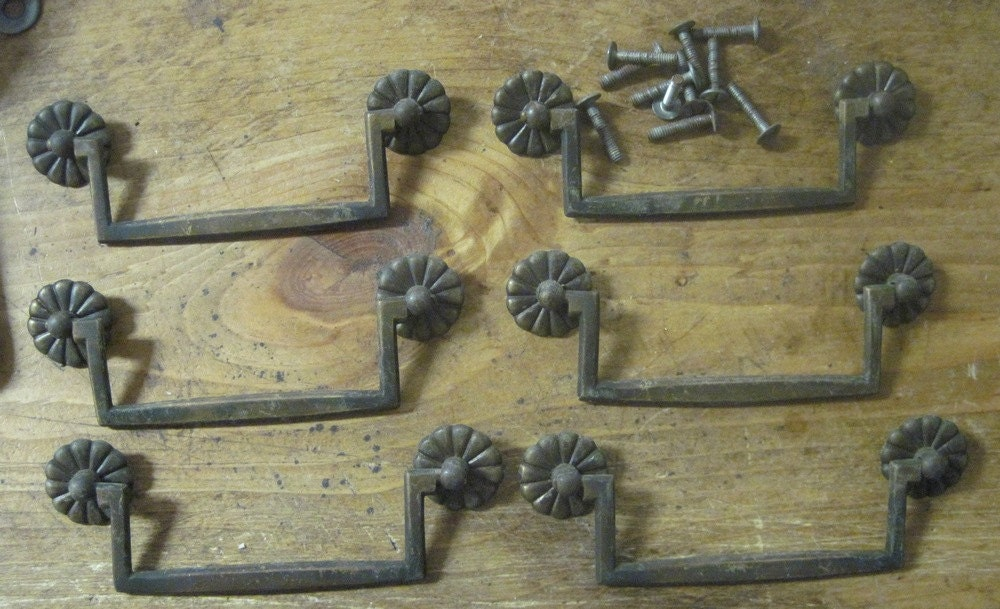 Set Of 6 Original 4 1 2 Inch Center Drawer Pulls