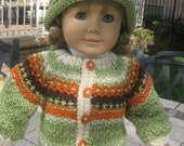 "18"" Doll Sweater/hat set"