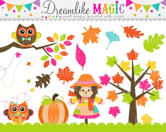 Sweet Festive Fall- Clipart for Personal or Commercial Use