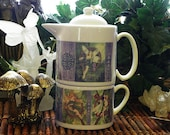 Café Style Porcelain Tea for One Set, Celtic Tree Fairies Fantasy Art