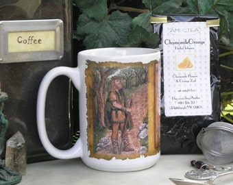 Oak King and Holly King 15 oz coffee mug