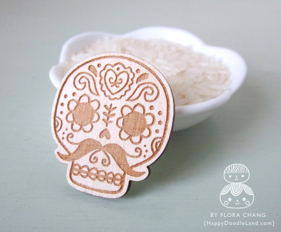 Wooden Brooch - Pick one of your favorite
