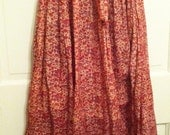 Vintage Made in India Gauze Cotton Hippie Boho Festival Skirt