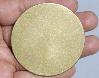 Disc 50mm Blank 20G Circle Cutout for Soldering Stamping Texturing Enameling, Jewelry Supplies - 2 Pieces