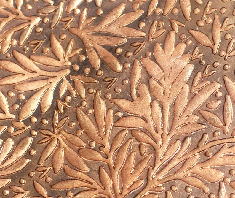 Copper Texture Metal Sheet Forest Of Leaves Pattern 24g 6 X