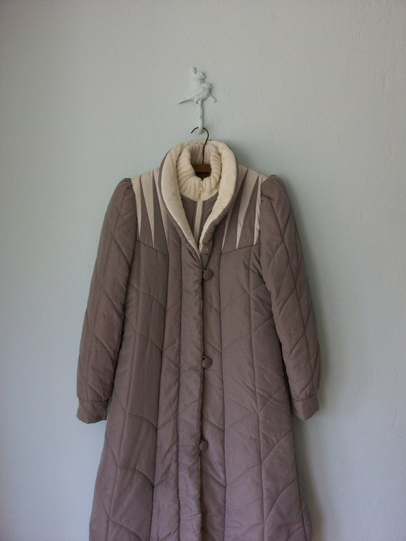 80's Puffy Jacket ... Vintage 1980's Mauve by ...