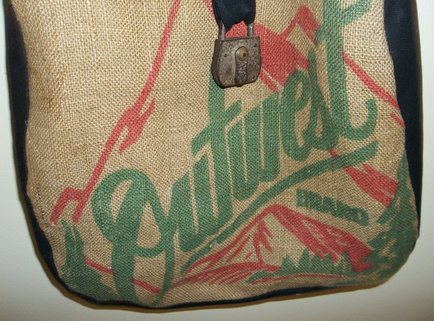 Burlap Feedsack Purse Vintage Burlap Feed Sack Market Bag