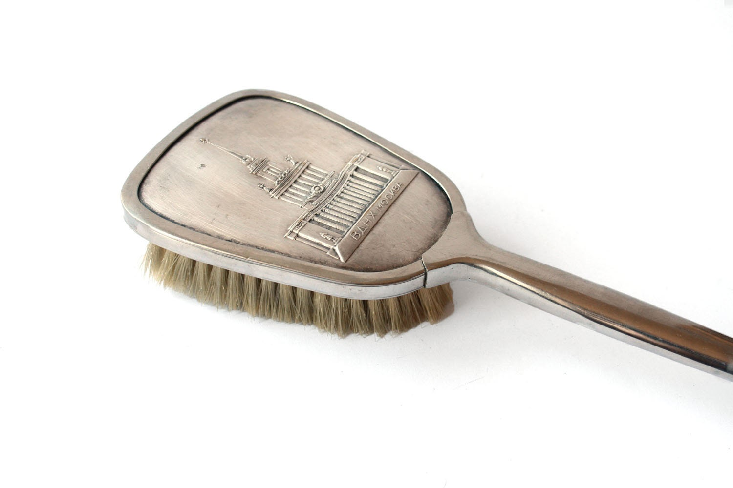 vintage clothes brush from soviet union 50 s by sovietvintage