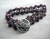 Beaded Bracelet - Violet and Lilac Luster