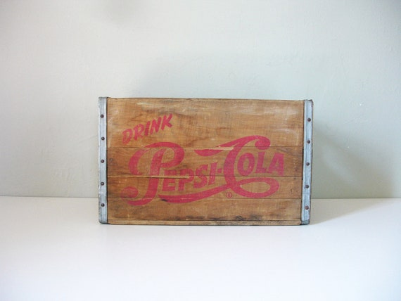 vintage pepsi cola crate