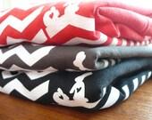 Screenprinted T-shirt, Red Chevron Retro Look, Women's Tee SML