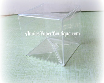 Clear Boxes - {12} Candy Cubes - 2x2x2 - Candy, Treats, Food, Chocolate, Favor, Shower, Birthday
