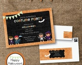 Printable Children's Halloween Costume Party Pack / Set - silentlyscreaming