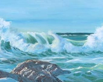 Spirits Of The Sea Paper Giclee Print Seascape Ocean by Carol Thompson