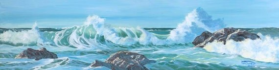 Spirits Of The Sea Paper Canvas Giclee Print Seascape Ocean by Carol Thompson
