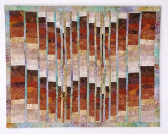Earth Tone Bargello Quilted Wall Hanging