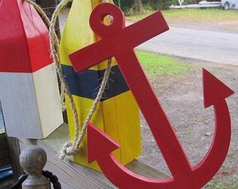 OOAK Reclaimed wood. Wooden Anchor. Beach Decor. Nautical Decor. Home Decor. Made To Order