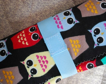 Chalkboard to Go travel placemat - owls on black