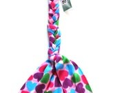 Horse Tail Wrap Braid-in Fleece Multi-color Hearts - The TAIL BAG ALTERNATIVE™